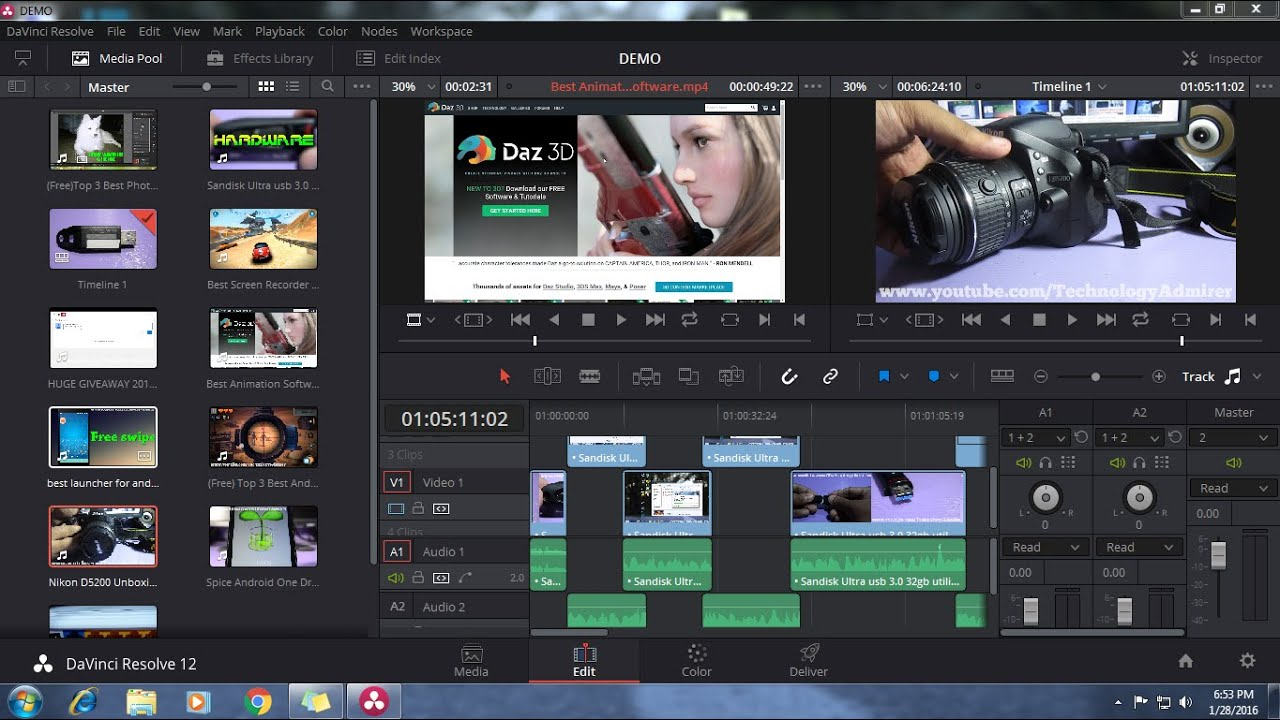 application for video and picture editing