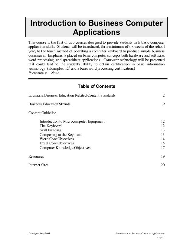 computer application in business slideshare
