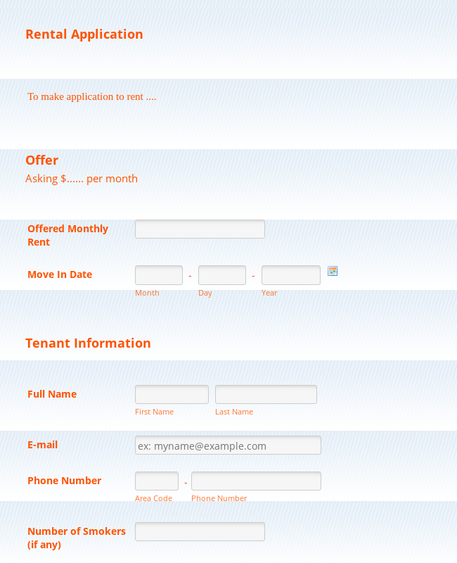 what is the fair application form